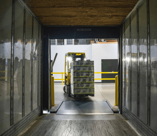 Using barriers to manage traffic in a warehouse